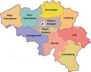 provincies in belgie